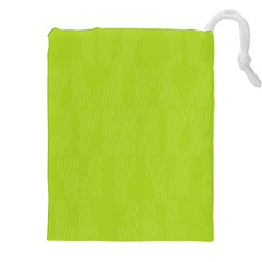 Line Green Drawstring Pouches (xxl) by Mariart