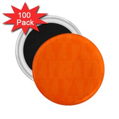 Line Orange 2 25  Magnets (100 Pack)  by Mariart
