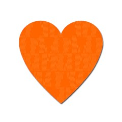 Line Orange Heart Magnet by Mariart