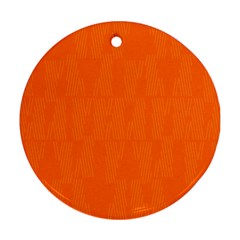 Line Orange Round Ornament (two Sides) by Mariart
