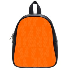 Line Orange School Bag (small) by Mariart