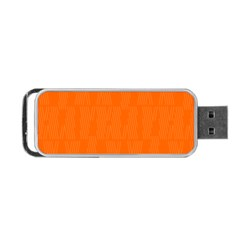 Line Orange Portable Usb Flash (one Side) by Mariart