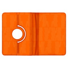 Line Orange Kindle Fire Hdx Flip 360 Case by Mariart