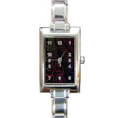 Neon Number Rectangle Italian Charm Watch by Mariart