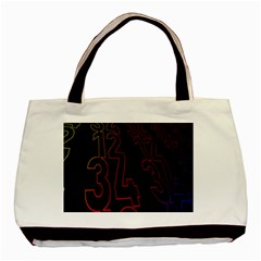 Neon Number Basic Tote Bag by Mariart