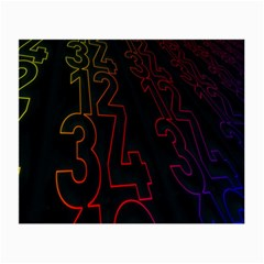 Neon Number Small Glasses Cloth (2 Side) by Mariart