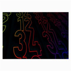 Neon Number Large Glasses Cloth by Mariart