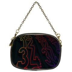 Neon Number Chain Purses (one Side)  by Mariart
