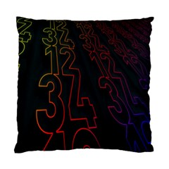 Neon Number Standard Cushion Case (two Sides) by Mariart