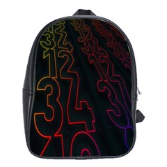 Neon Number School Bag (large) by Mariart