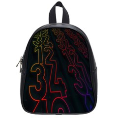 Neon Number School Bag (small) by Mariart