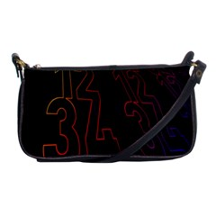 Neon Number Shoulder Clutch Bags by Mariart