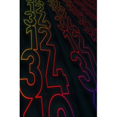 Neon Number 5 5  X 8 5  Notebooks by Mariart