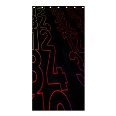 Neon Number Shower Curtain 36  X 72  (stall)  by Mariart