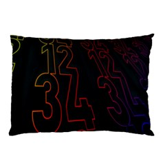 Neon Number Pillow Case (two Sides) by Mariart