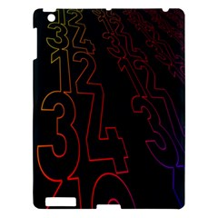 Neon Number Apple Ipad 3/4 Hardshell Case by Mariart