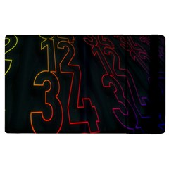Neon Number Apple Ipad 3/4 Flip Case by Mariart