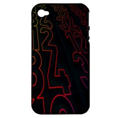 Neon Number Apple Iphone 4/4s Hardshell Case (pc+silicone) by Mariart