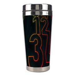 Neon Number Stainless Steel Travel Tumblers by Mariart