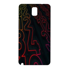 Neon Number Samsung Galaxy Note 3 N9005 Hardshell Back Case by Mariart