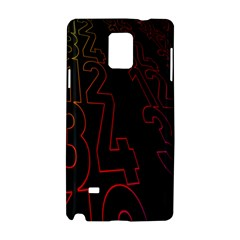 Neon Number Samsung Galaxy Note 4 Hardshell Case