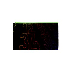 Neon Number Cosmetic Bag (xs) by Mariart
