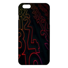 Neon Number Iphone 6 Plus/6s Plus Tpu Case by Mariart