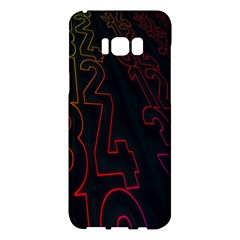 Neon Number Samsung Galaxy S8 Plus Hardshell Case  by Mariart