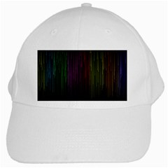 Line Rain Rainbow Light Stripes Lines Flow White Cap by Mariart