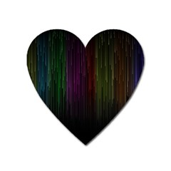 Line Rain Rainbow Light Stripes Lines Flow Heart Magnet by Mariart