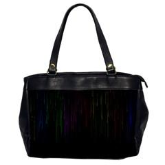 Line Rain Rainbow Light Stripes Lines Flow Office Handbags by Mariart