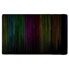 Line Rain Rainbow Light Stripes Lines Flow Apple Ipad 3/4 Flip Case by Mariart