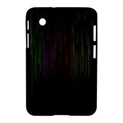 Line Rain Rainbow Light Stripes Lines Flow Samsung Galaxy Tab 2 (7 ) P3100 Hardshell Case  by Mariart