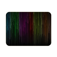 Line Rain Rainbow Light Stripes Lines Flow Double Sided Flano Blanket (mini)  by Mariart