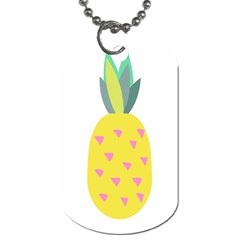 Pineapple Fruite Yellow Triangle Pink Dog Tag (two Sides) by Mariart