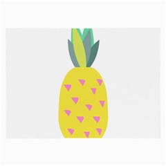 Pineapple Fruite Yellow Triangle Pink Large Glasses Cloth (2 Side) by Mariart