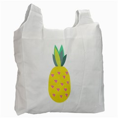 Pineapple Fruite Yellow Triangle Pink Recycle Bag (one Side) by Mariart
