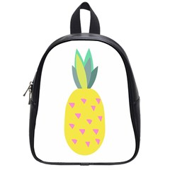 Pineapple Fruite Yellow Triangle Pink School Bag (small) by Mariart