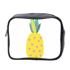 Pineapple Fruite Yellow Triangle Pink Mini Toiletries Bag 2 Side by Mariart