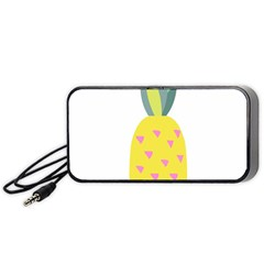 Pineapple Fruite Yellow Triangle Pink Portable Speaker (black) by Mariart