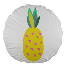 Pineapple Fruite Yellow Triangle Pink Large 18  Premium Round Cushions by Mariart