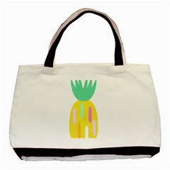 Pineapple Fruite Yellow Triangle Pink White Basic Tote Bag by Mariart