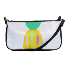 Pineapple Fruite Yellow Triangle Pink White Shoulder Clutch Bags