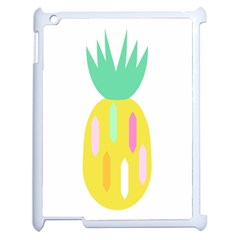 Pineapple Fruite Yellow Triangle Pink White Apple Ipad 2 Case (white) by Mariart