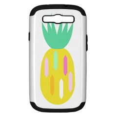 Pineapple Fruite Yellow Triangle Pink White Samsung Galaxy S Iii Hardshell Case (pc+silicone) by Mariart