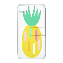 Pineapple Fruite Yellow Triangle Pink White Apple Iphone 4/4s Hardshell Case With Stand by Mariart