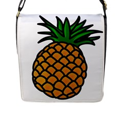 Pineapple Fruite Yellow Green Orange Flap Messenger Bag (l)  by Mariart