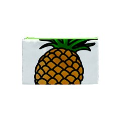 Pineapple Fruite Yellow Green Orange Cosmetic Bag (xs) by Mariart