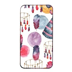 Boho Tribal Watercolor White Pattern Apple Iphone 4/4s Seamless Case (black) by paulaoliveiradesign