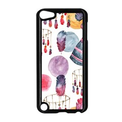 Boho Tribal Watercolor White Pattern Apple Ipod Touch 5 Case (black) by paulaoliveiradesign